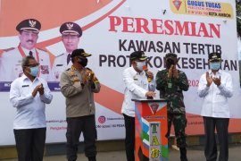 Pasar Mardika dijadikan kawasan tertib protokol kesehatan di Ambon