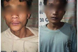 Dua remaja pengkonsumsi sabu-sabu lakukan penjambretan diamankan Polisi Tanjung Pura Langkat