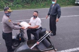 Polres Bangli bagikan bantuan Polri ke penyandang disabilitas