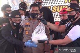 """402,38 kilogram """"shabu-shabu"""" di Sukabumi berasal dari Timur Tengah"""