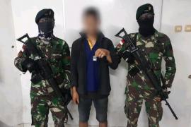 Satgas Pamtas tangkap pelaku transaksi narkoba di perbatasan negara RI-Malaysia