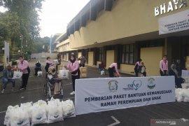 Ketum Bhayangkari salurkan 2.000 paket bantuan untuk difabel-ibu hamil
