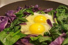 vitamin K dalam bayam, telur dan keju bantu cegah COVID-19