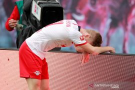 Liga Jerman: Bermain dengan 10 pemain, Leipzig diimbangi tim juru kunci