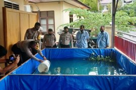 Polres Sibolga dukung program ketahanan pangan melalui budidaya ikan lele dan nila