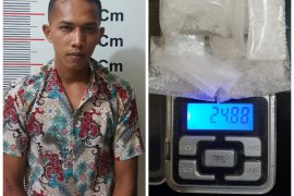 Polisi Pangkalan Susu Langkat tangkap bandar sabu-sabu Pematang Jaya