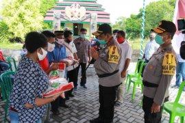 Polda Malut salurkan bantuan ke mahasiswa Papua di Ternate