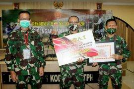 Penerangan Kodam XII/Tpr juara satu lomba karya jurnalistik TMMD ke-107
