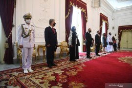 Presiden Jokowi terima surat kepercayaan 7 duta besar negara sahabat