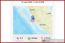 Gempa 5,7 SR guncang Mukomuko