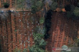 Brazil lampaui sejuta kasus baru corona, dengan kematian  hampir 50.000