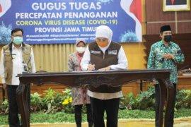 PSBB berakhir, tiga kepala daerah Surabaya Raya teken komitmen cegah COVID-19 (Video)