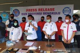 BNN Bengkulu tangkap 6 pengedar narkoba antar-provinsi