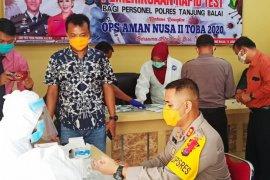 Personel Polres Tanjung Balai ikuti tes cepat  COVID-19