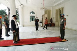 Ma'ruf Amin kunjungi Istana Wapres pertama sejak PSBB