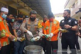 Polrestabes Medan musnahkan 35 kilogram sabu dari jaringan internasional