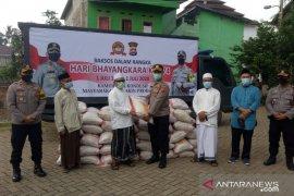 Jelang Hari Bhayangkara, Polres Serang Kota salurkan dua ton beras