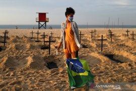 Brazil umumkan 21.704 kasus baru COVID-19 dalam 24 jam
