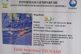 Gempa 5.1 SR landa Timor Tengah Utara