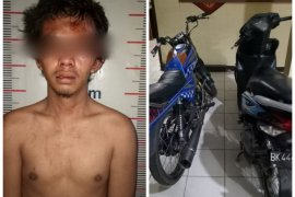 Pencuri sepeda motor di Salapian Langkat babak belur dihakimi massa