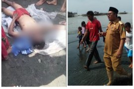 Novriansyah tewas tenggelam di Pantai Jaring Halus Secanggang Langkat