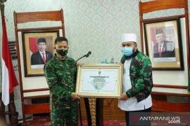 Danrem Gamas angkat Wali Kota Bengkulu jadi warga kehormatan
