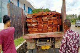 Polisi kembali tangkap mobil pengangkut kayu ilegal di Aceh Jaya, satu orang diamankan