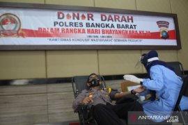 Polisi Bangka Barat sumbang darah ke PMI