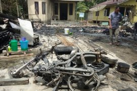 Kebakaran hanguskan rumah dan sepeda motor warga Aceh Utara
