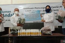 Jadi garda terdepan COVID-19, seribu masker PT SBA iuntuk jurnalis Aceh