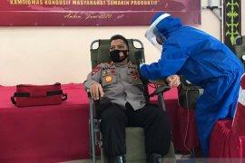 Polda Maluku lakukan aksi donor darah sambut Hari Bhayangkara ke- 74