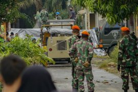 Evakuasi pesawat tempur TNI AU jatuh di Kampar