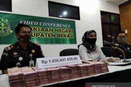 Kejaksaan Bekasi terima Rp1 miliar kerugian negara