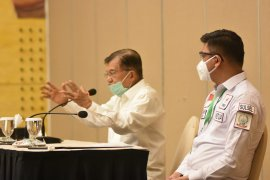 Jusuf Kalla minta seluruh PMI bekerja ekstra tangani pandemi COVID-19