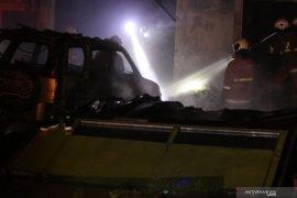 Kebakaran dilahan milik PT KAI