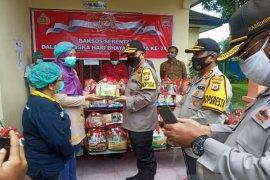Kapolda Maluku motivasi petugas dan pasien COVID-19 di LPMP Ambon