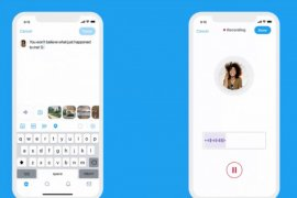 Twitter telah menambahkan perangkat tambahan pesan suara dalam cuitan