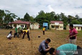 Sambut normal baru, Polri - Penyuluh - Polbangtan Medan manfaatkan lahan kosong Gunung Sitoli