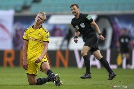 Penyerang Dortmund Haaland dongkol karena Bayern juara