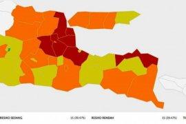 Gugus tugas: zona merah di Jatim tinggal tujuh