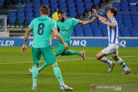 Real Madrid merebut puncak klasemen setelah menang di Sociedad
