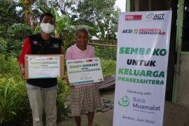ACT Maluku-Bank Muamalat salurkan sembako bagi keluarga pra sejahtera