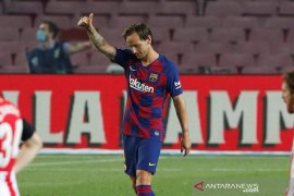 Rakitic bawa Barcelona sementara duduki puncak klasemen lagi Spanyol