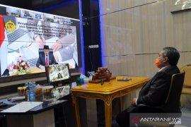 Wali Kota Video Conference penyerahan opini WTP Pemkot Banjarbaru