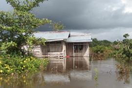 Desa Sabung di Kabupaten Sambas kembali direndam banjir