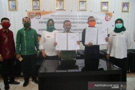 Pemkab Gorontalo dan KPU tandatangani NHPD untuk Pilkada