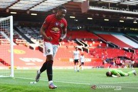Tiga gol  Anthony  Martial perbesar peluang MU tembus empat besar
