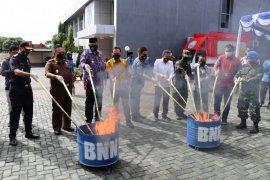 BNNP Malut musnahkan barang bukti narkoba