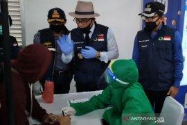 """Penumpang KRL antusiasme ikuti """"rapid test"""" di Stasiun Bogor"""