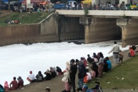 "Ada pemandangan unik sungai ""bersalju"" di lokasi CFD BKT"